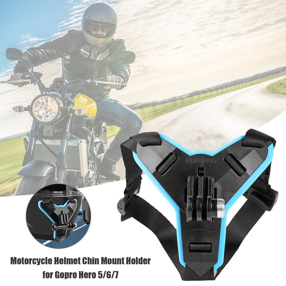 Motorcycle Helmet Chin Mount Holder for Gopro Hero 5/6/7 Action Sports Cam