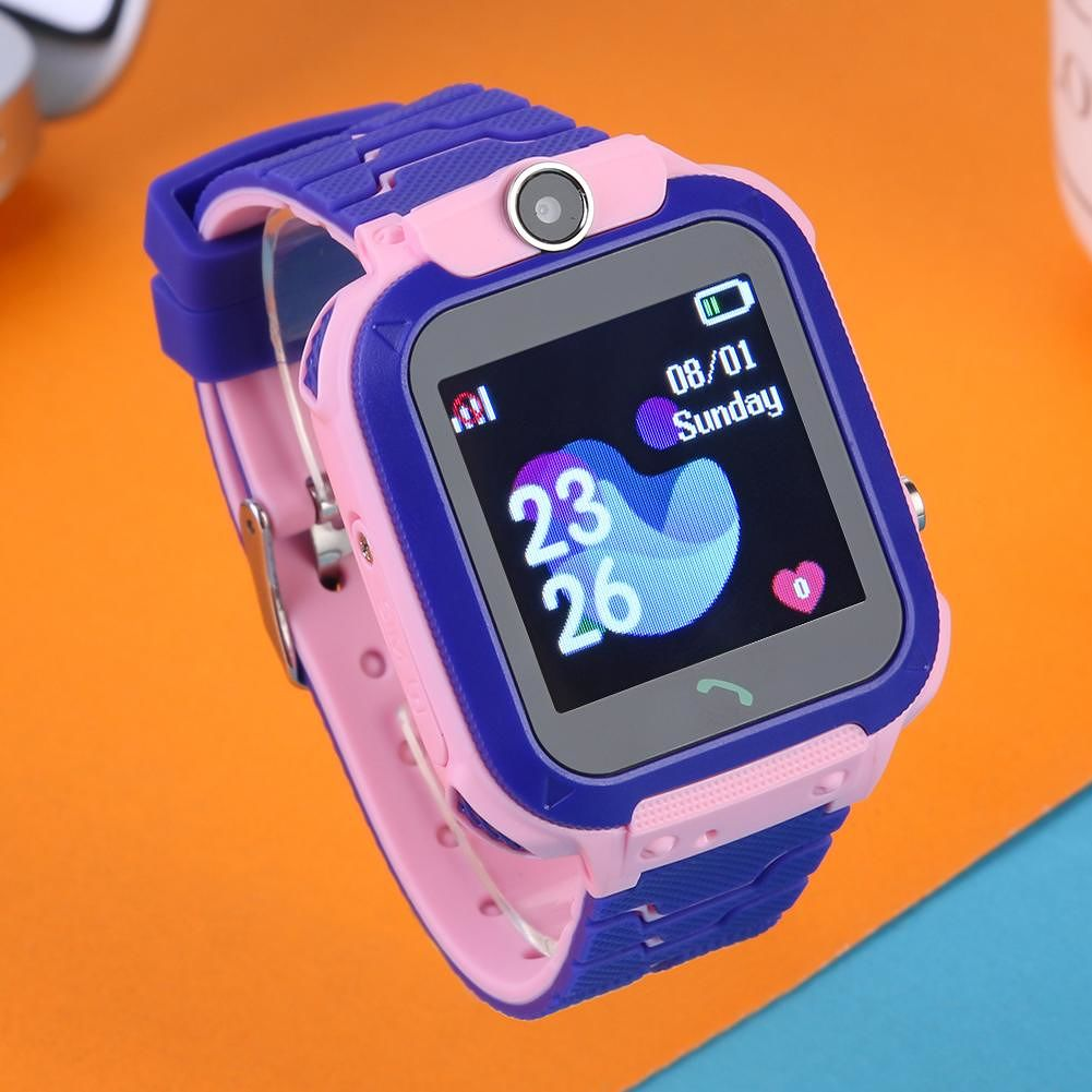 Q12 Kids Smart Phone Watch IP67 Waterproof Voice Chat Smartwatch (Pink)