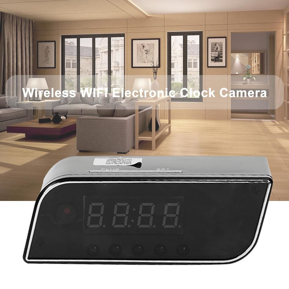 1080P Night Vision Wireless WIFI Electronic Clock Camera IP Remote Monitor