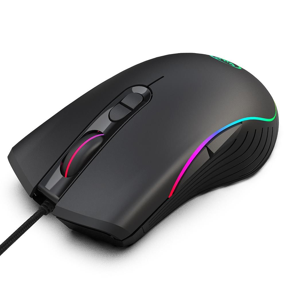 HXSJ A867 7 Keys Wired Gaming Mouse RGB 6400 DPI Adjustable Ergonomic Mice