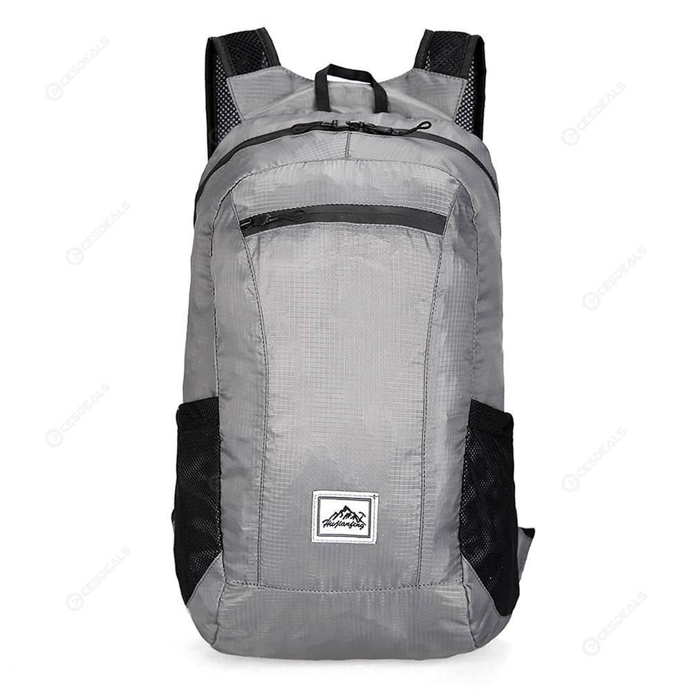 20L Foldable Shoulder Backpack Ultra Light Waterproof Travel Bag (Grey)
