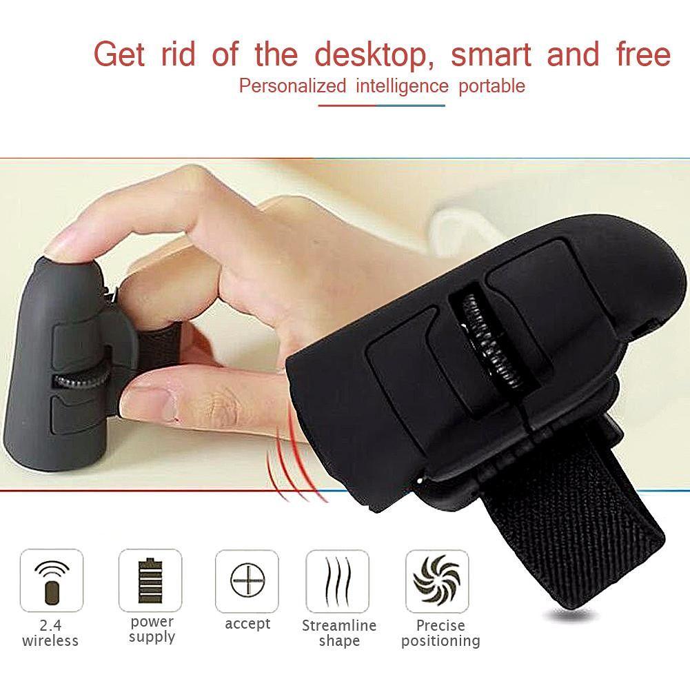 2.4 GHz Mini Wireless Mouse 1600 DPI USB Handheld Finger Ring Optical Mice