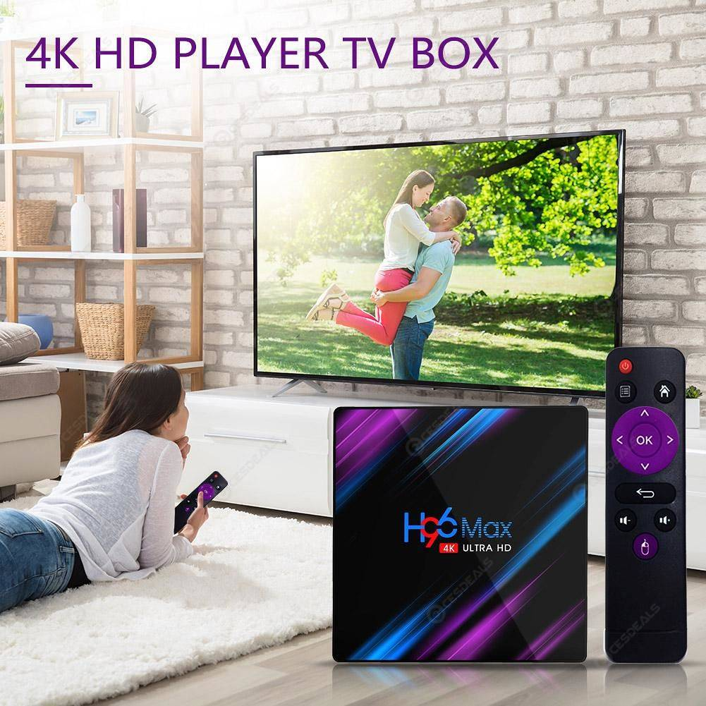 Image result for H96 MAX RK3318 2GB RAM 16GB ROM 5G WIFI BLUETOOTH 4.0 ANDROID 9.0 4K VP9 H.265 TV BOX