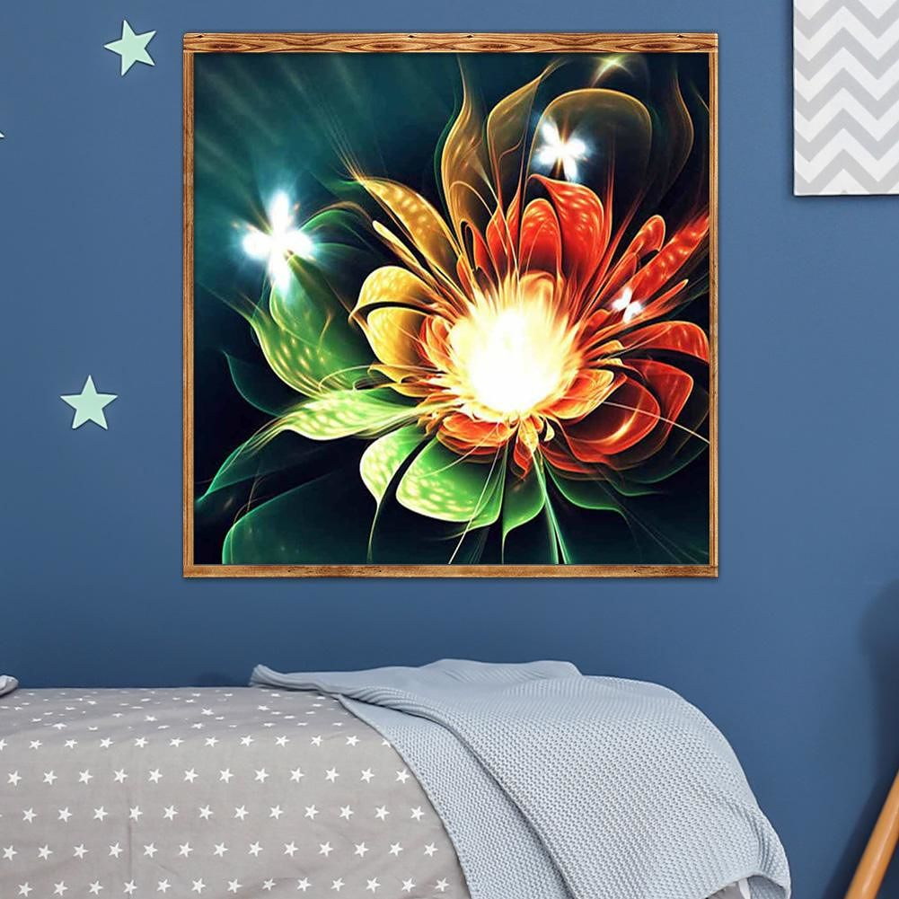 5D DIY Full Drill Diamond Painting Cross Stitch Embroidery Kit (Flower01)