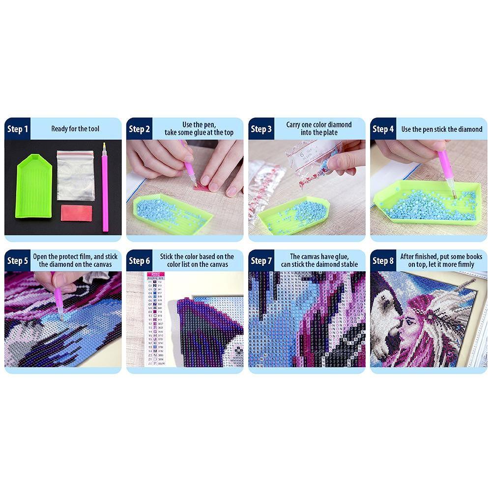5D DIY Full Drill Diamond Painting Cross Stitch Embroidery Kit (Animal01)