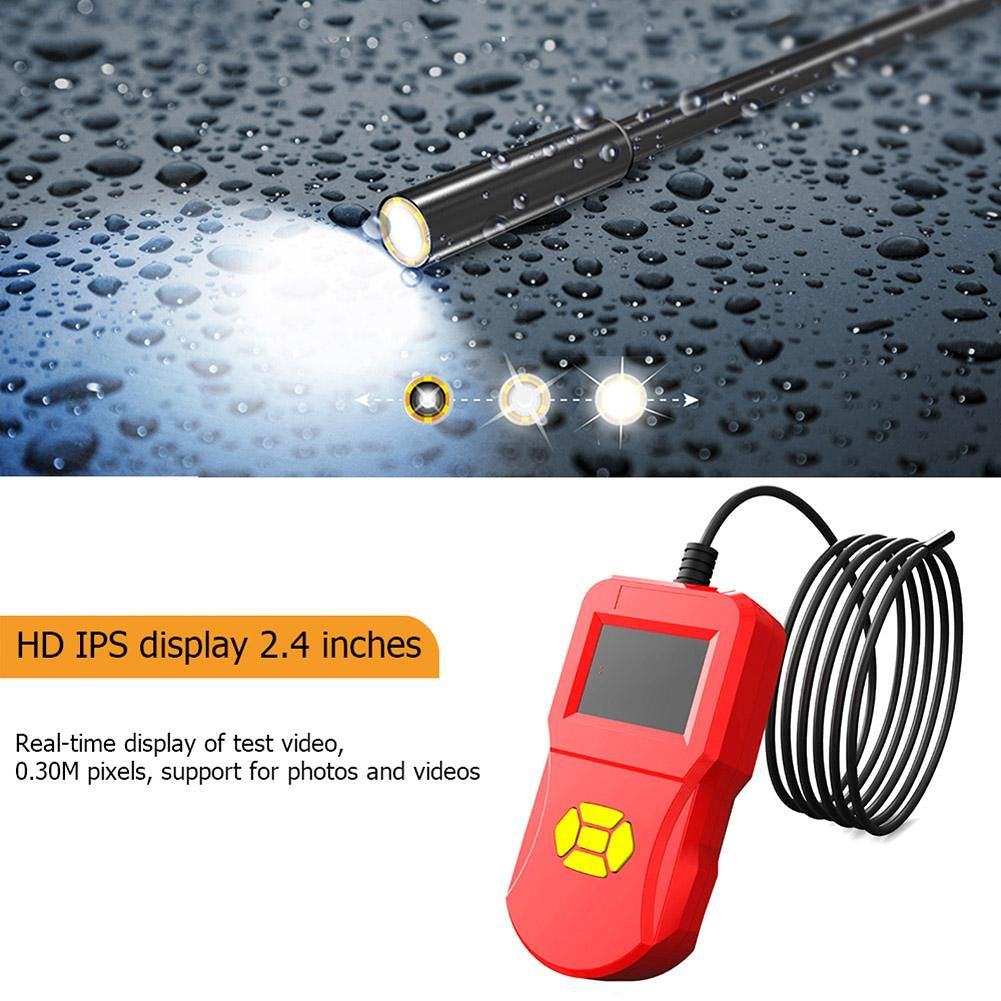 2.4 inch Digital Inspection Camera Handheld 8 LED Home Industrial Endoscope