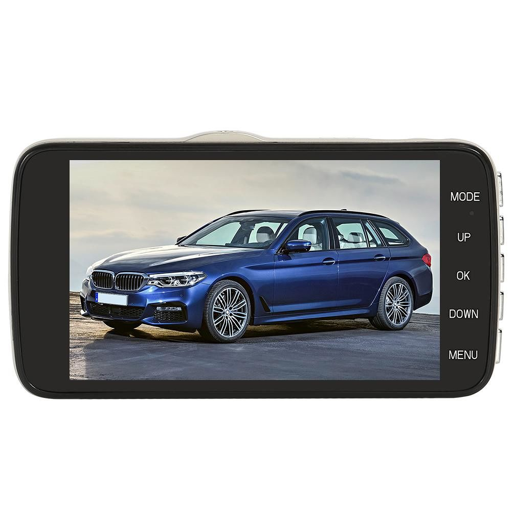 SE001 1080p Car DVR Dual Lens 4 inch Screen Night Vision Dashboard Camera