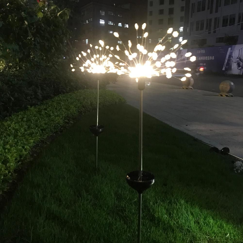 2pcs 90 LED String Light Solar Waterproof Underground Lamp (Snowflake)