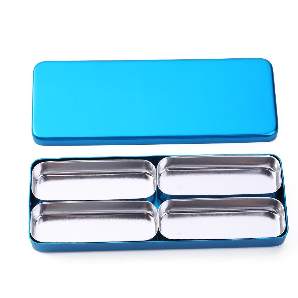 4-grid Dental Disinfection Box Oral Care Tools Dental Equipment (Blue)
