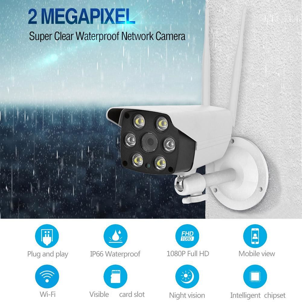 IP Wireless WIFI Camera 1080P 2MP Dual Light Source 2 Way Audio CCTV Camera