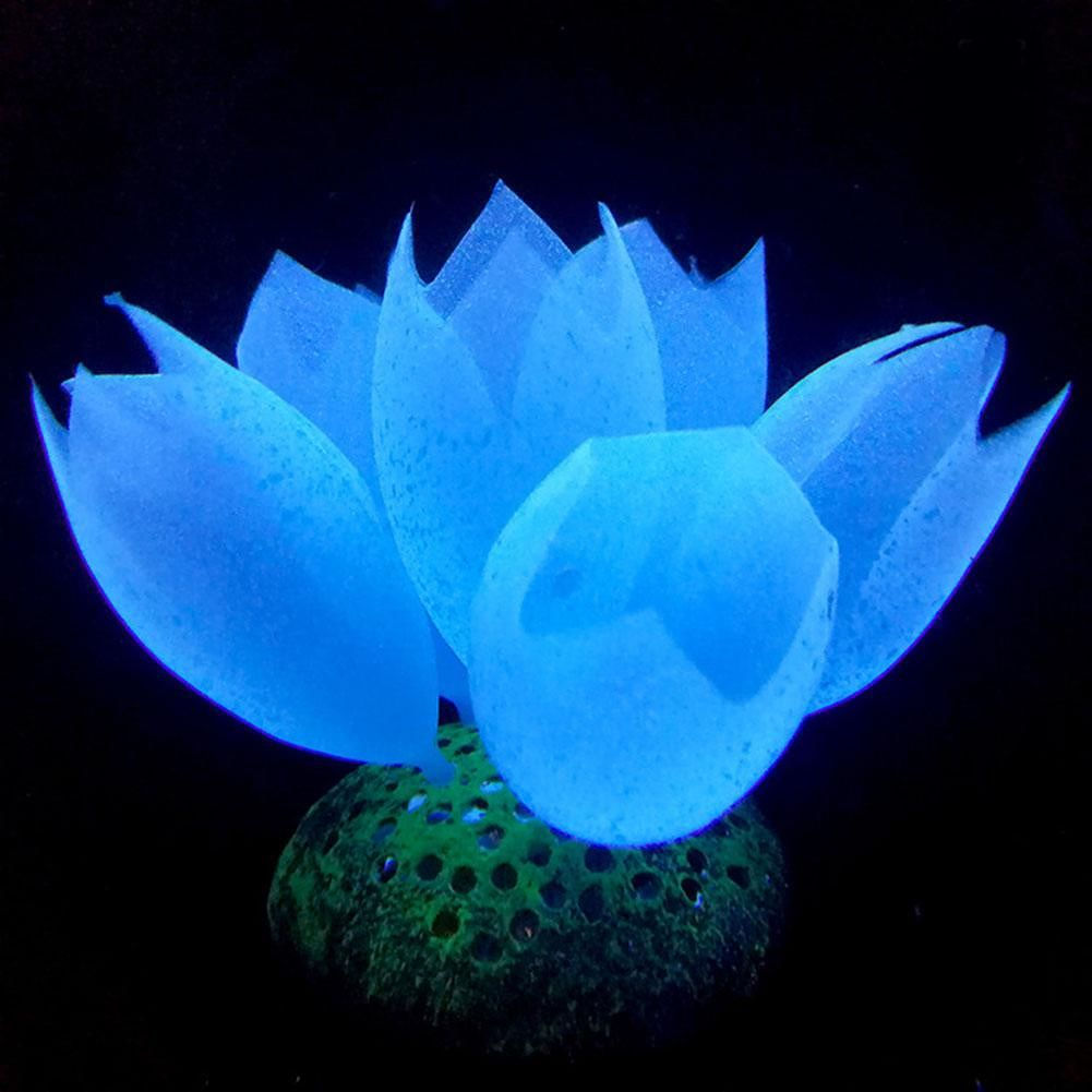 Simulation Luminous Fluorescent Bubble Coral Fake Underwater Plants (Blue)