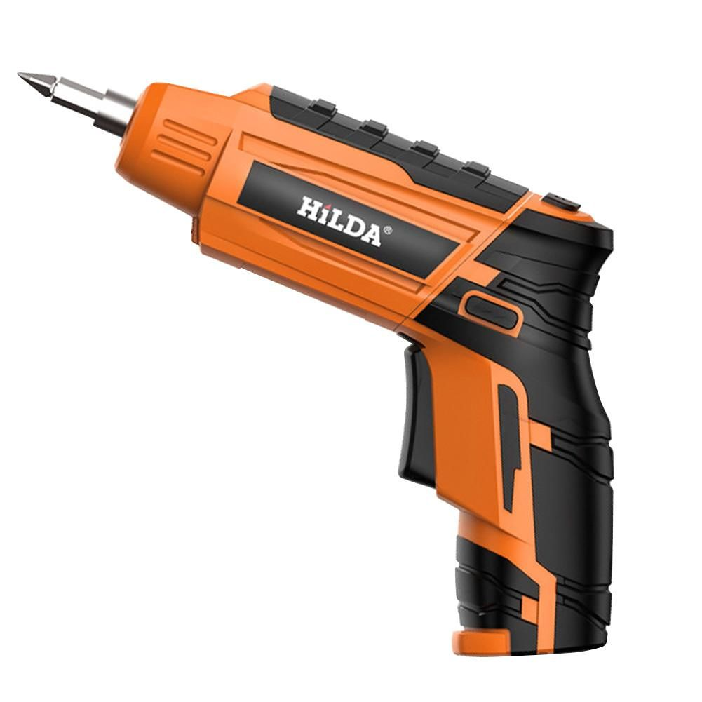 Cordless Electric Screwdriver USB Rechargeable Hand Drill Power Drill (A)