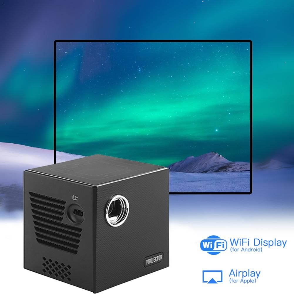 C80 4K DLP Projector 1GB+8GB Android 7.1 BT4.0 WiFi 120 inch Theater (EU)