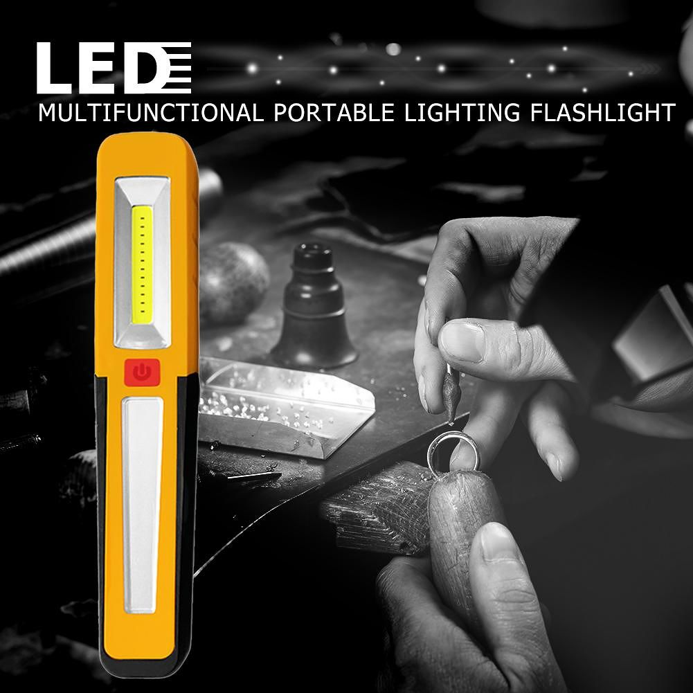 COB Handheld Work Light Magnetive LED Lamp for Hunting Camping (Yellow)