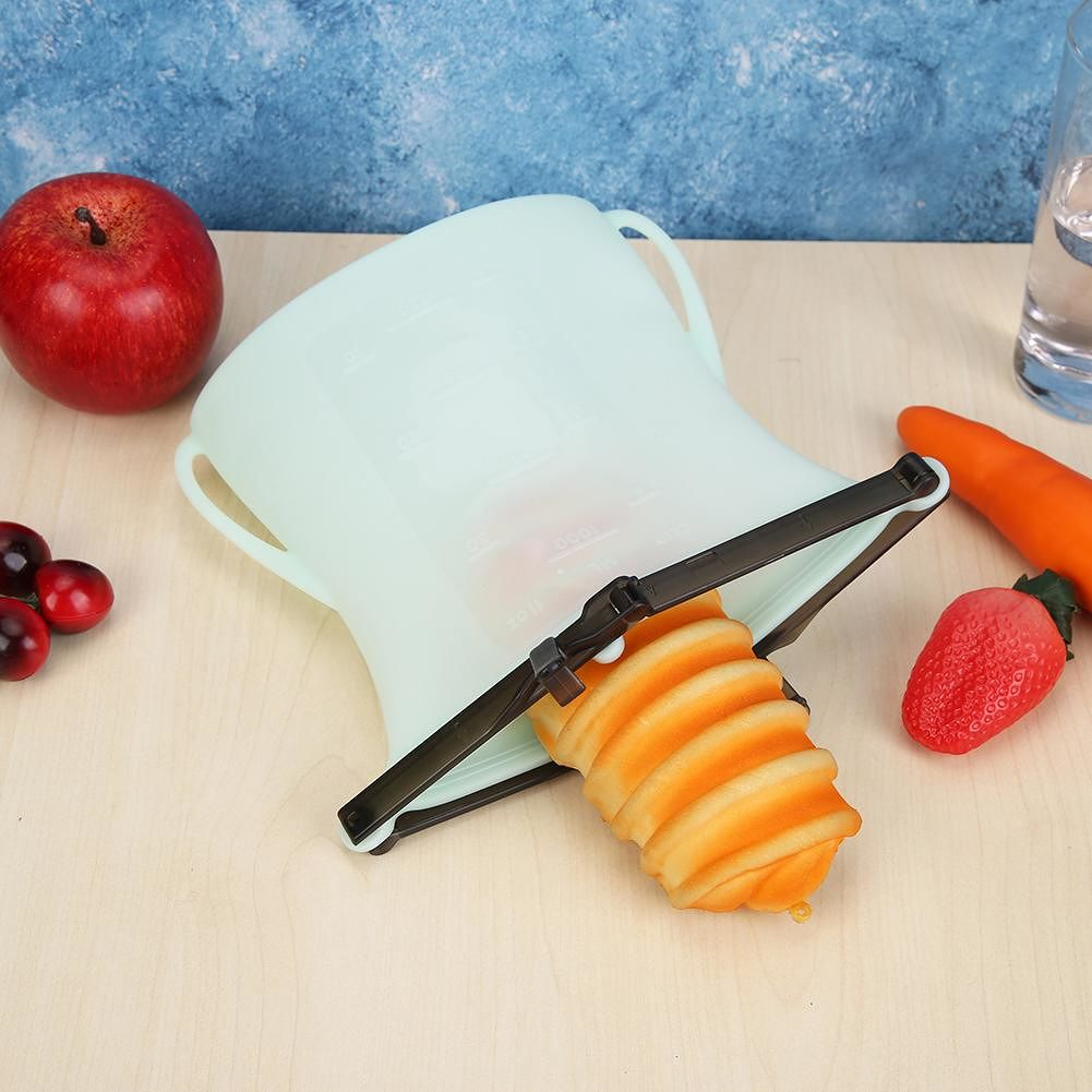 Kitchen Food Sealing Storage Bag Refrigerator Fresh Meat Organizer (Green)