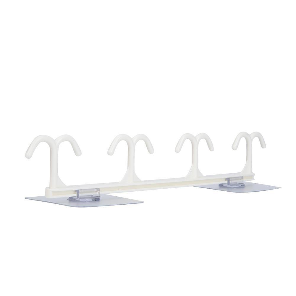 Kitchen Storage Rack Hanging Hook Cabinet Wardrobe Sundries Holder (White)
