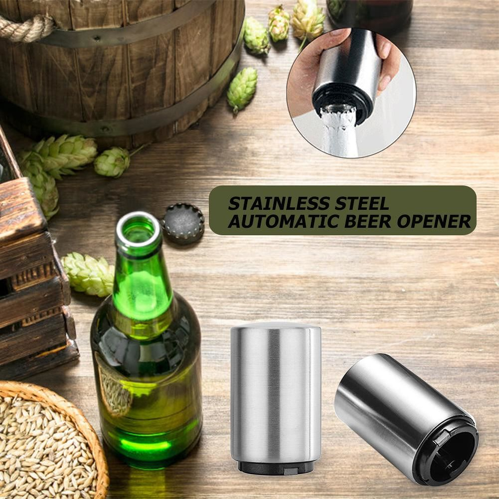 Stainless Steel Automatic Bottle Opener Bar Kitchen Beer Wine Opening Tools
