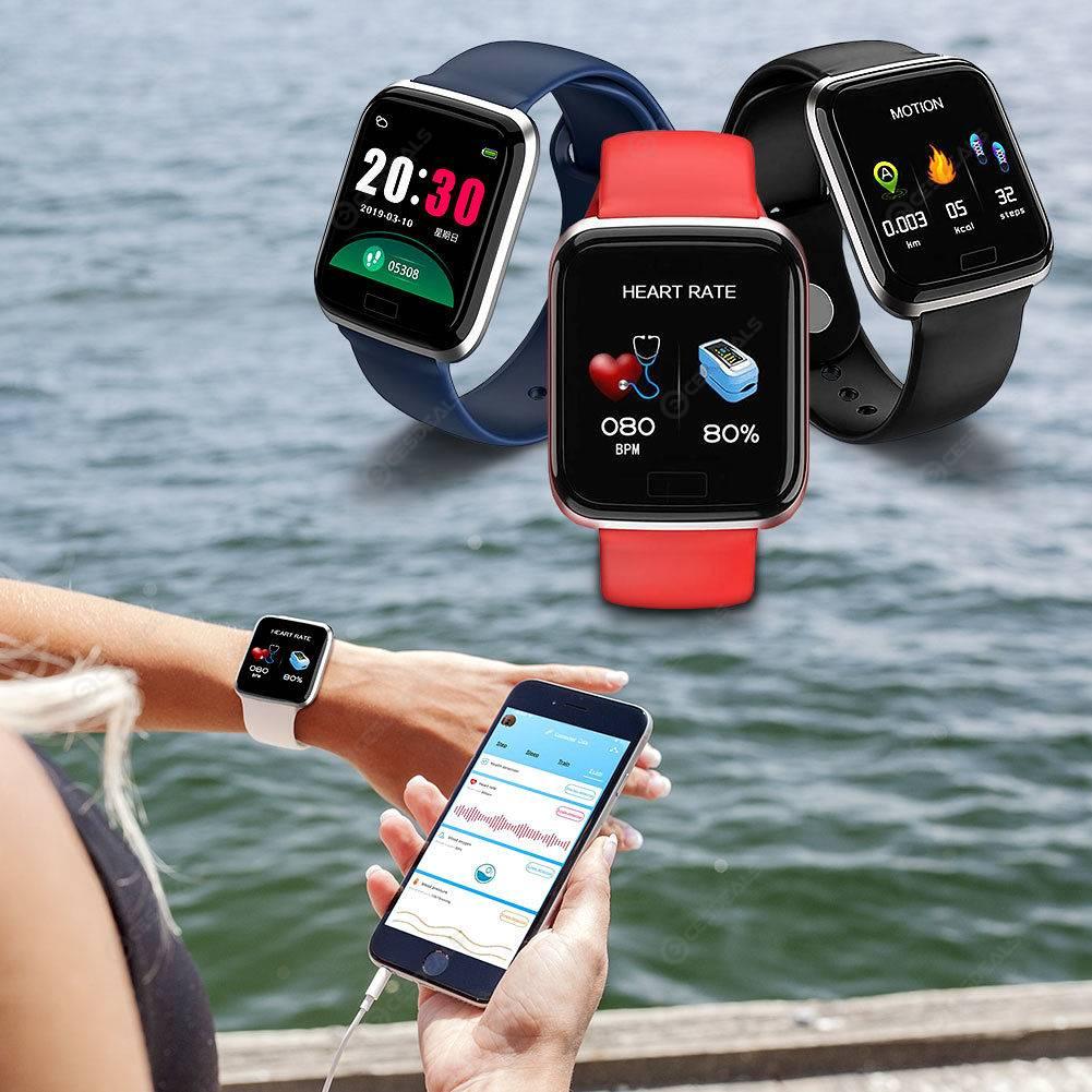 e551a813aedc CY05 Smart Watch frecuencia cardíaca presión arterial IP67 pulsera  impermeable (negro)