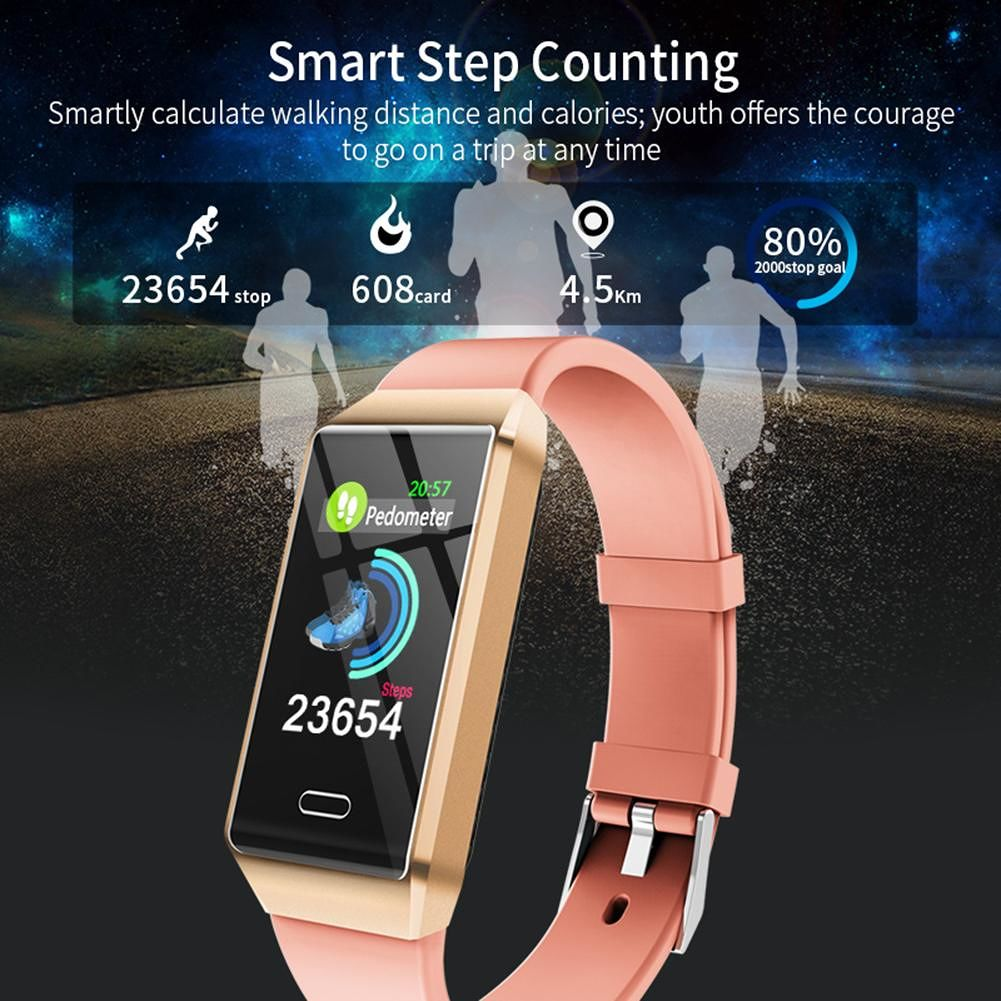 X9 Smart Band Heart Rate Sleep Pedometer IP67 Waterproof Bracelet (Pink)