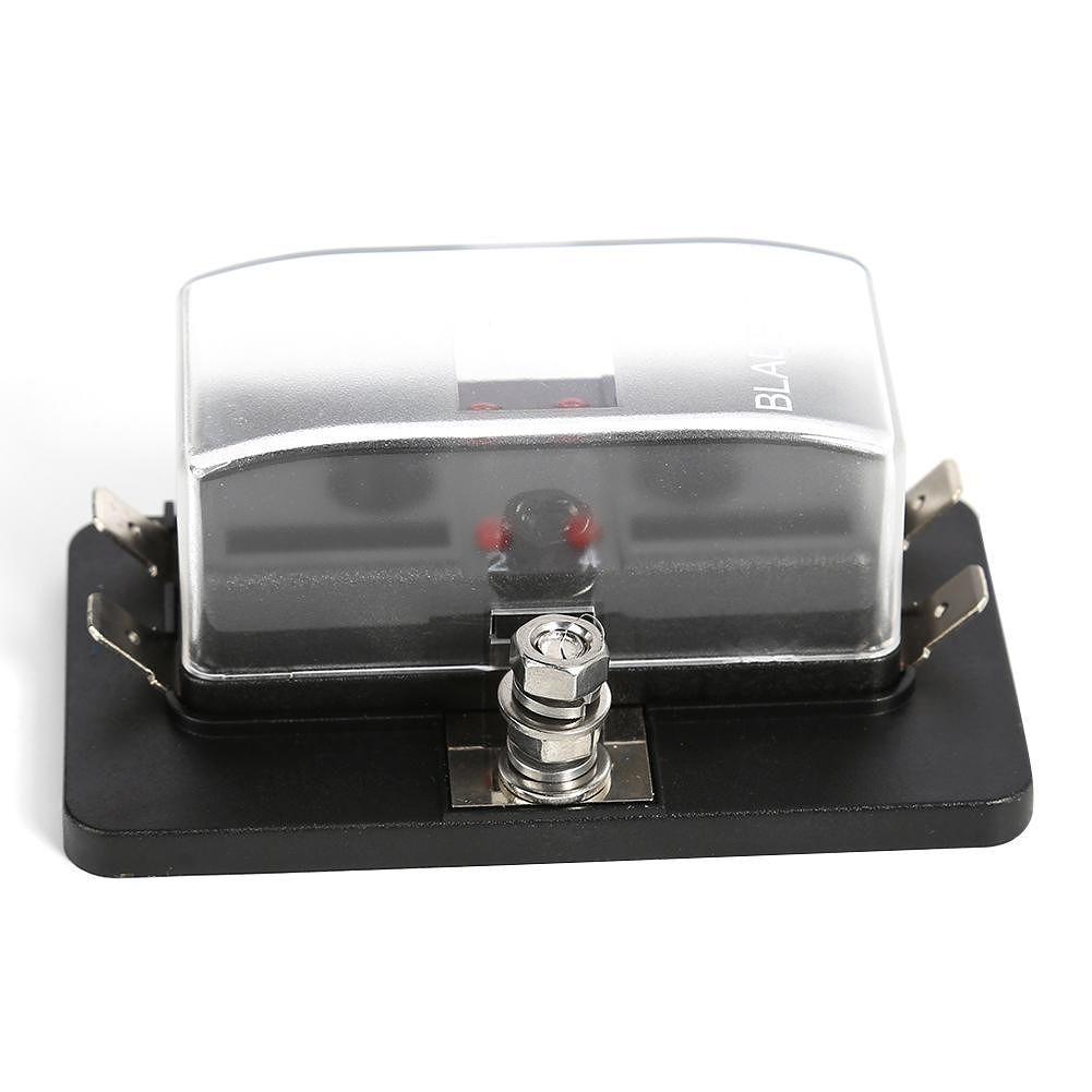 Blade Fuse Block ATO Fuse Box Holder w/ LED Indicator for Car Boat (4 Way)