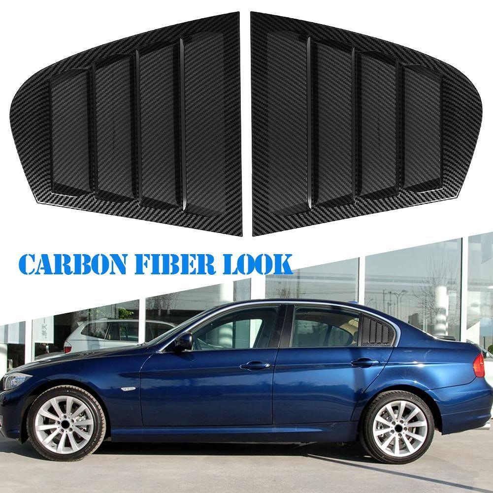 Rear Door Fixed Vent Window Glass for 3Series E90 09-11 (Carbon Fiber Look)