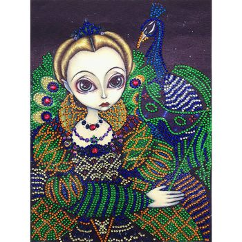 5D DIY Special Shaped Diamond Painting Girl Cross Stitch Mosaic Craft Kits