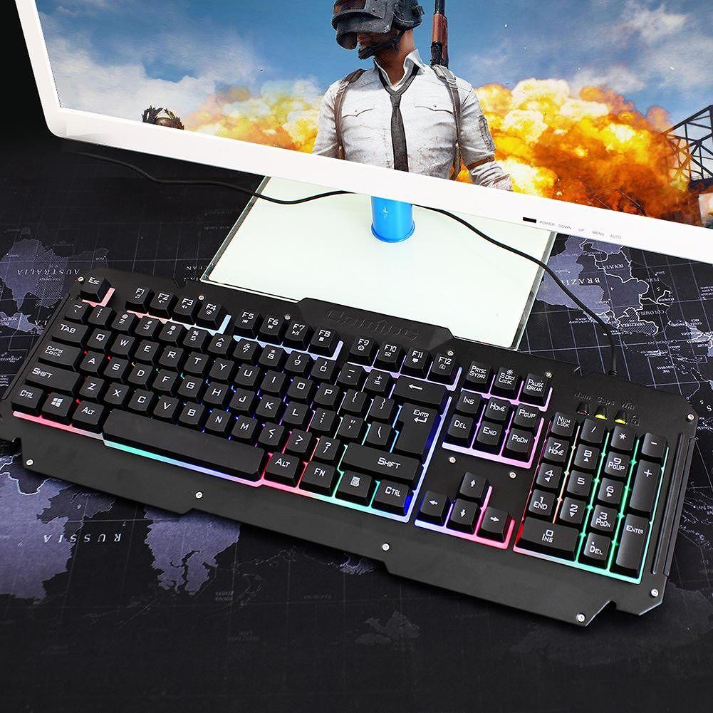 YWYT Y605 USB Wired Backlight 104 Keys Gaming Keyboard for Windows 10/8/7