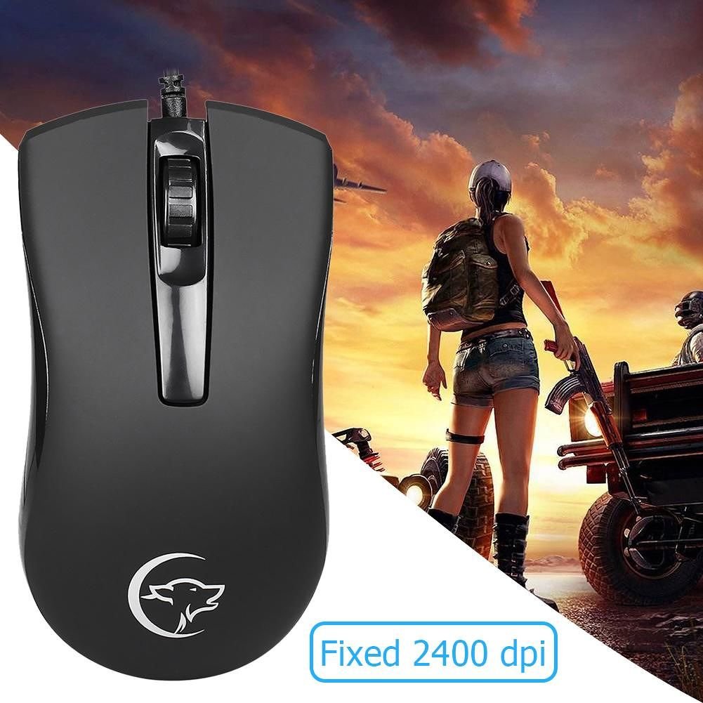 YWYT G831 USB Wired Optics Ergonomic Mouse 2400 DPI Desktop PC Gaming Mice