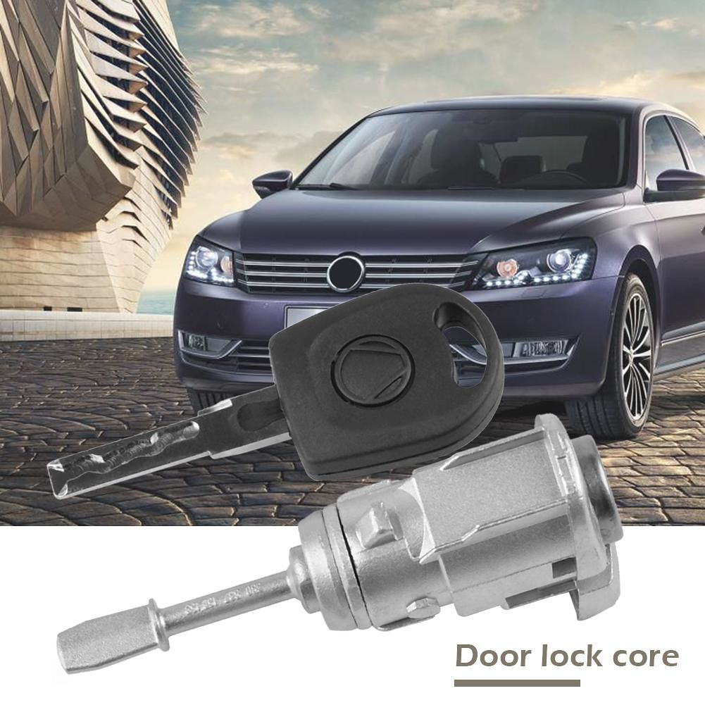 Front Door Lock Cylinder with Key for Lupo 6X1 6E1 Passat 3B2 3B3 (Left)