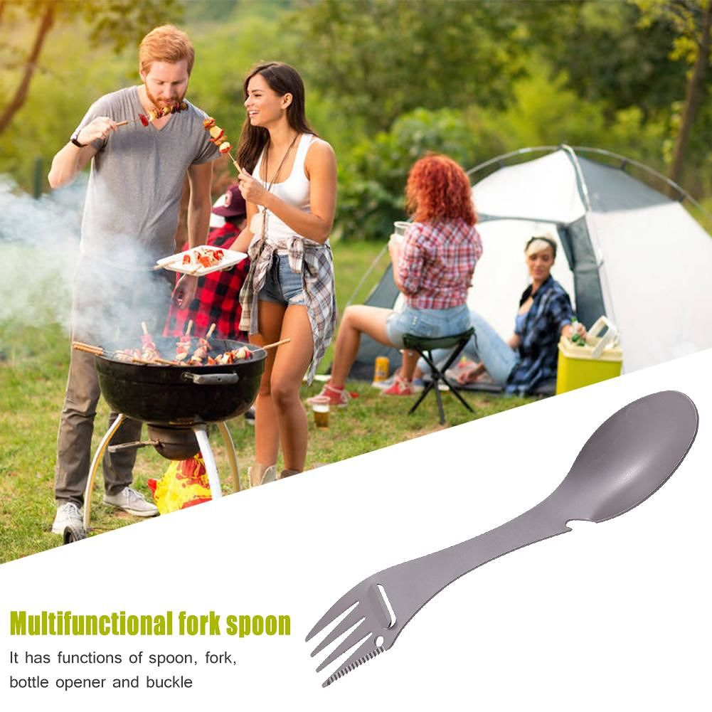 Multifunctional Stainless Steel Fork Spoon Portable Outdoor Camping Cutlery