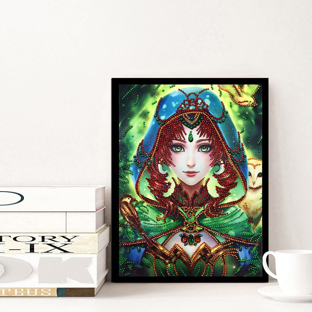 5D DIY Special Shaped Diamond Painting Beauty Cross Stitch Mosaic Craft Kit