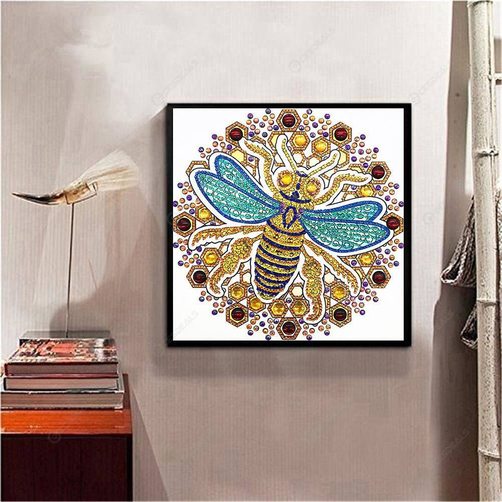 5D DIY Special Shaped Diamond Painting Bee Cross Stitch Mosaic Craft Kits