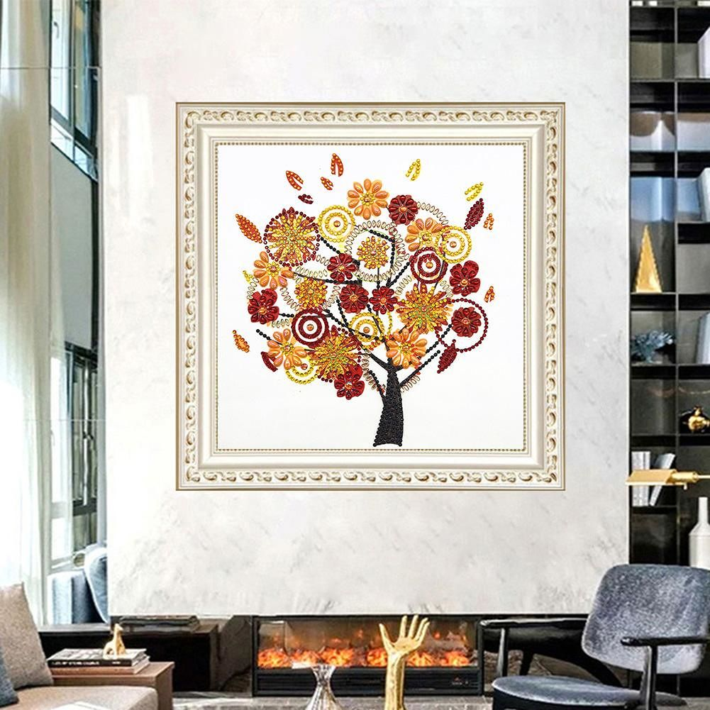 5D DIY Special Shaped Diamond Painting Tree Cross Stitch Mosaic Craft Kits