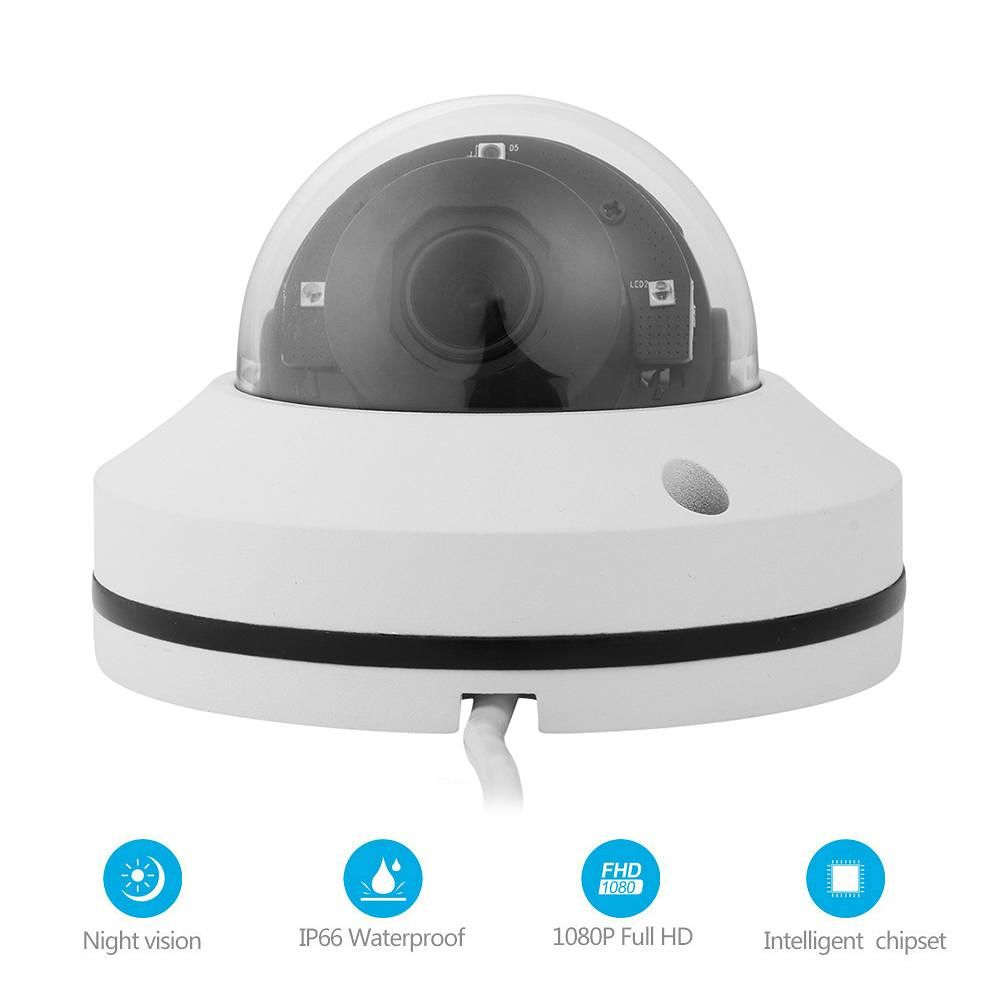 2 inch IP Camera 2MP 3X Zoom 360 Rotated PZT IR Dome Network POE Camcorder