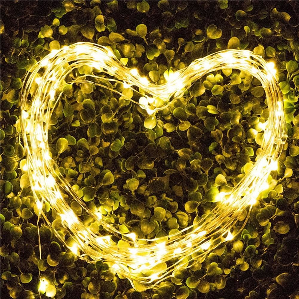 10M 100LED Copper Wire Music String Lights Holiday Party Decor Lamp (WW)