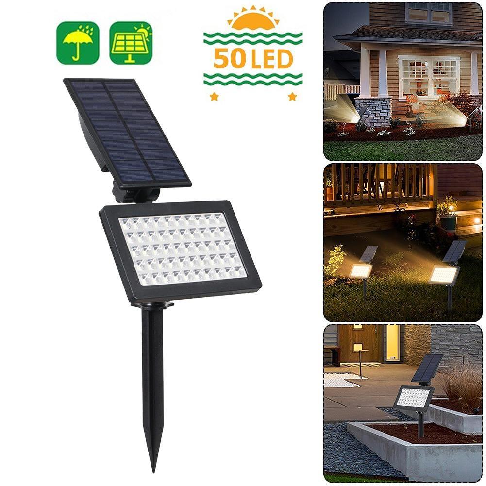 50 LED Solar Light Outdoor Garden Lawn Ground Lamp Underground Spotlight