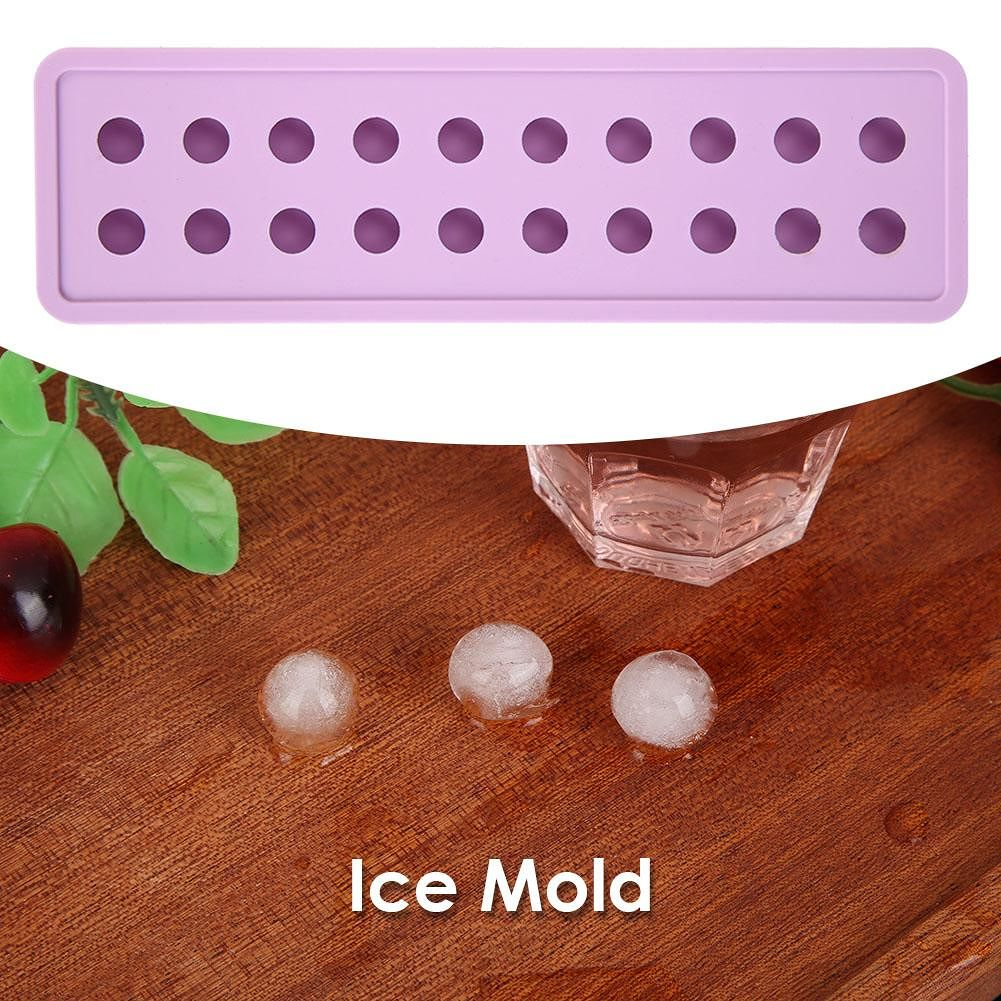 Silicone 20 Holes Ice Cube Maker DIY Ice Cube Mold Ice Tray Mould (Purple)
