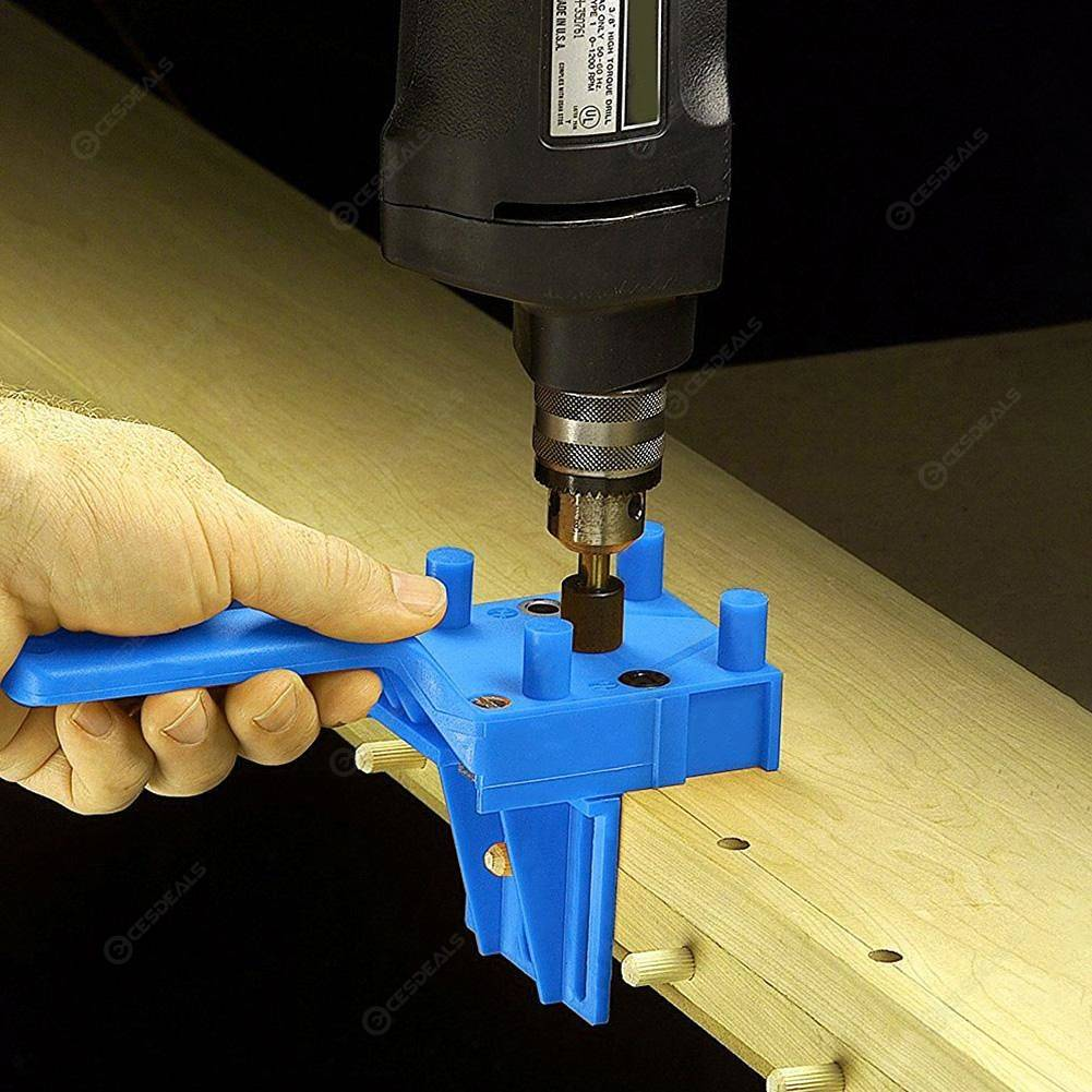 Pocket Hole Jig Handheld Dowel Woodworking Jig Drilling Guide Tools 41pcs
