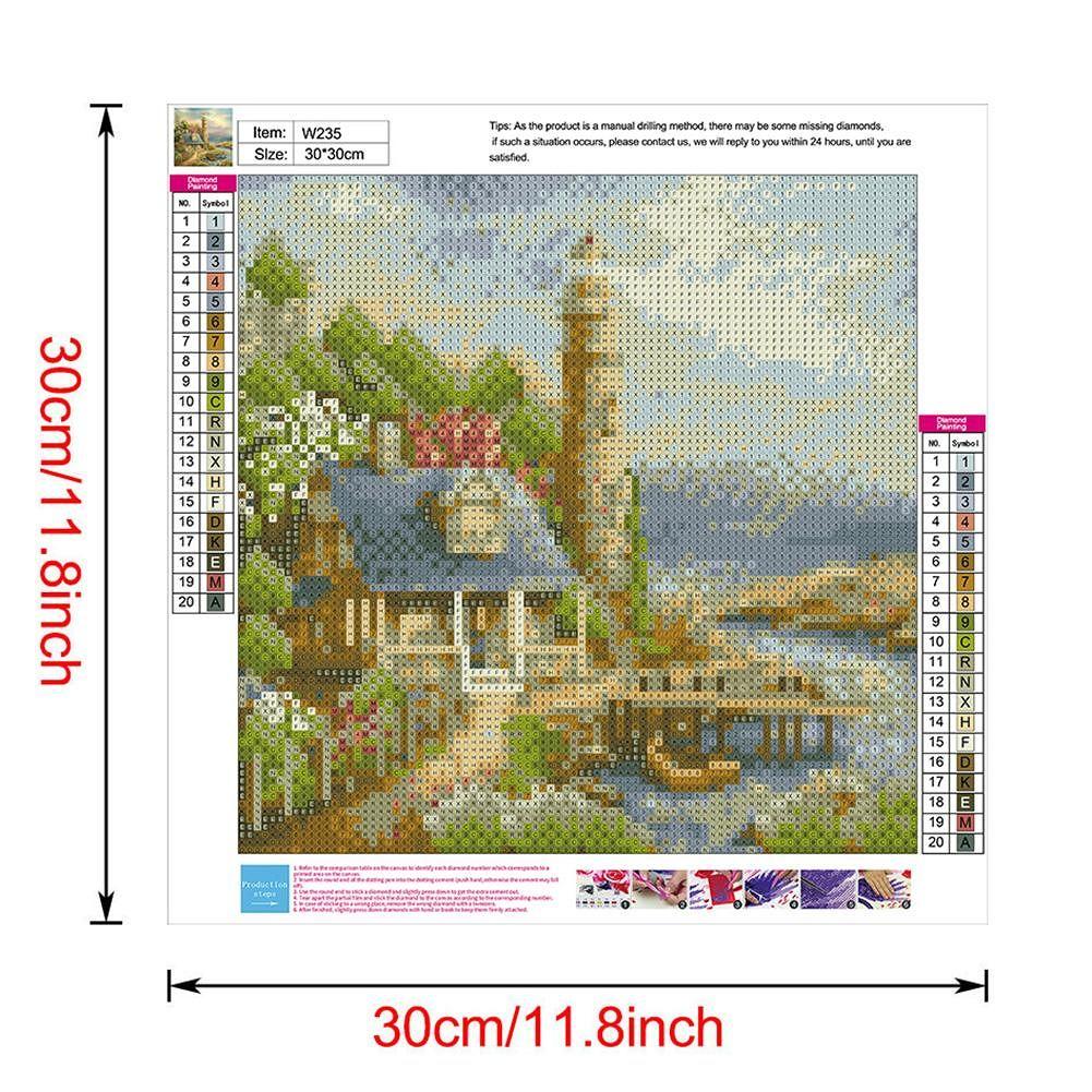 5D DIY Full Drill Diamond Painting Scenery Cross Stitch Mosaic Kits (W235)