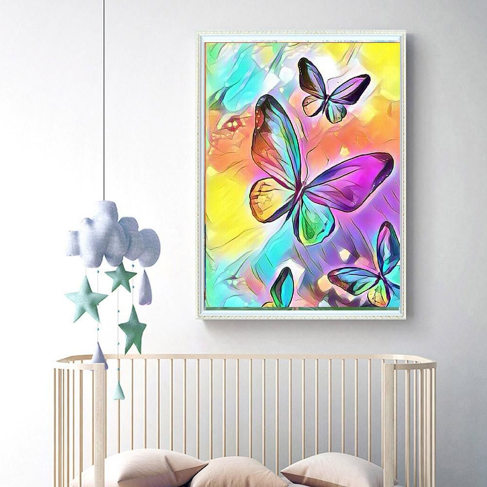 5D DIY Full Drill Diamond Painting Butterfly Cross Stitch Kit Decor (W186)