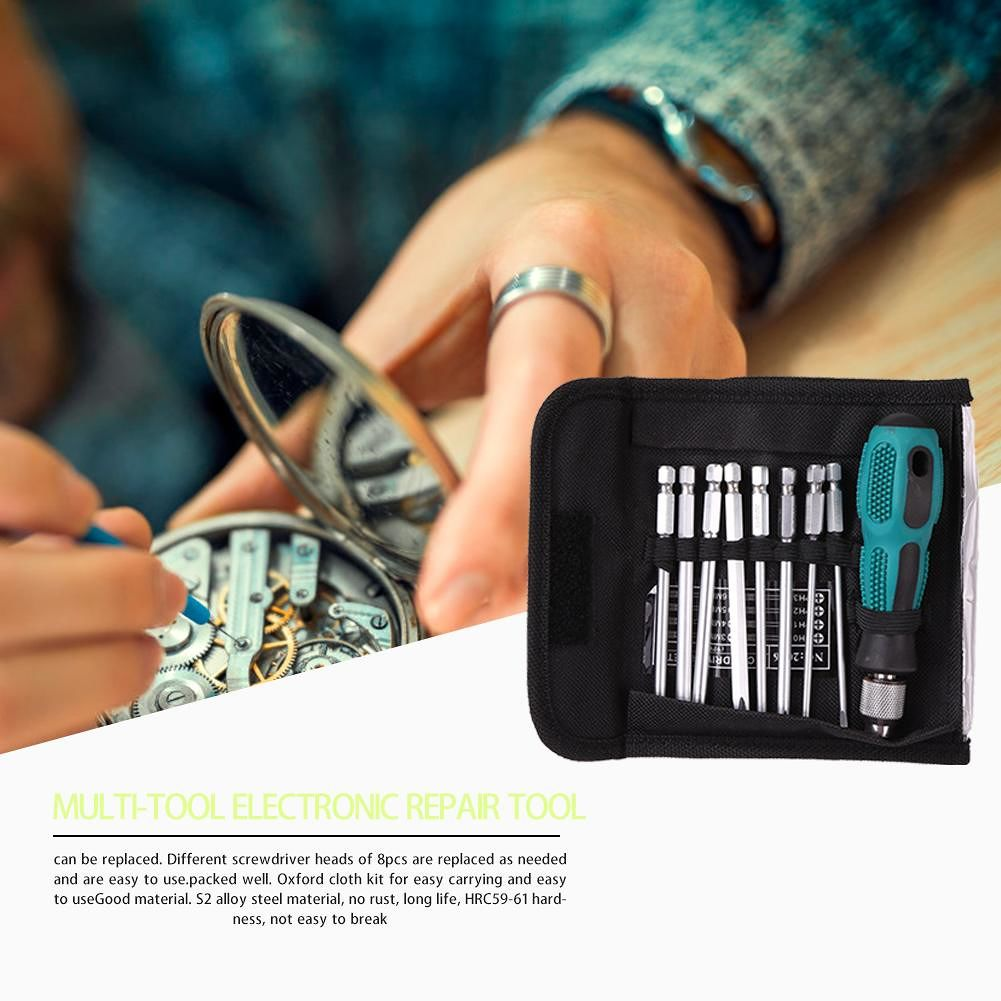 1/4 inch 6.35mm Slotted Phillips Bits Screwdriver Set with Magnetic Tools