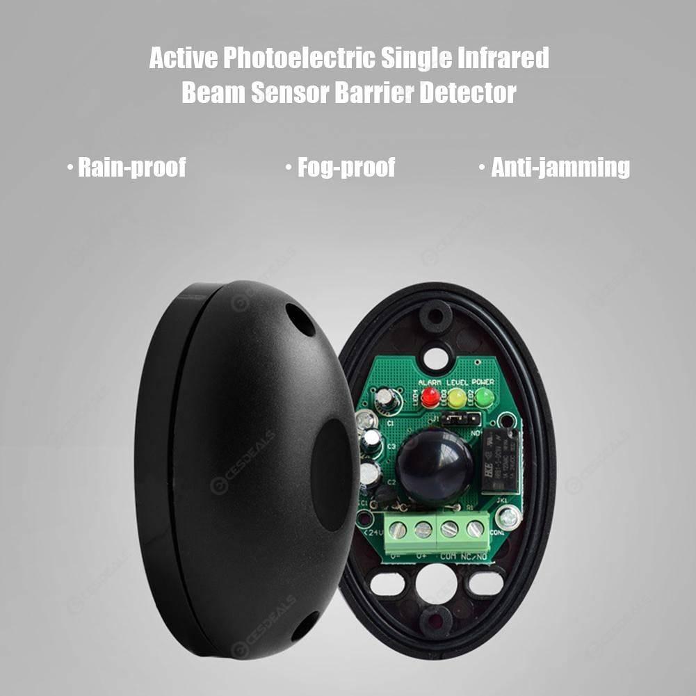 DC12-24V Active Photoelectric Single Infrared Beam Sensor Barrier Detector