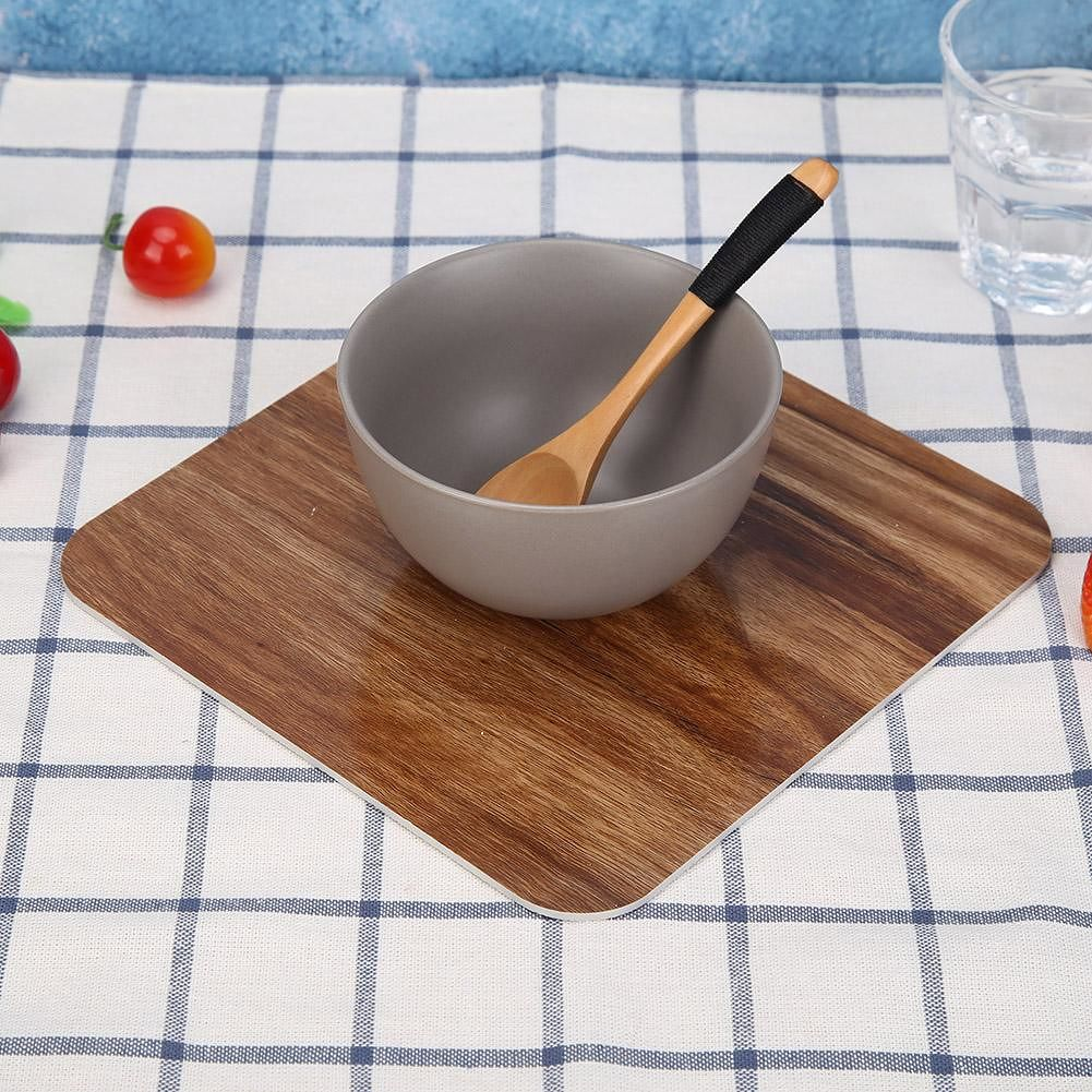 Wooden Placemat Insulation Anti-hot Bowl Mats Kitchen Table Pad (Large)