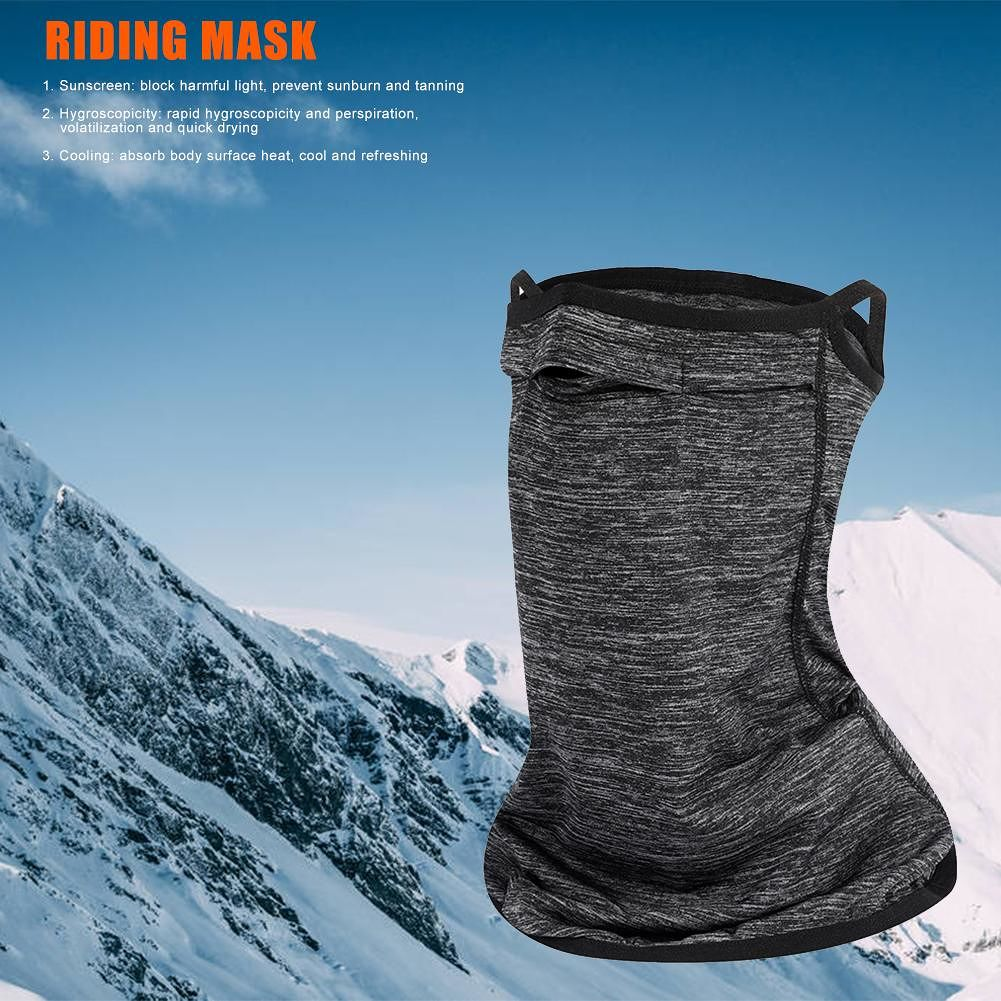 Outdoor Cycling Mask Ice Silk Breathable Dustproof Sunscreen Neck Face Mask