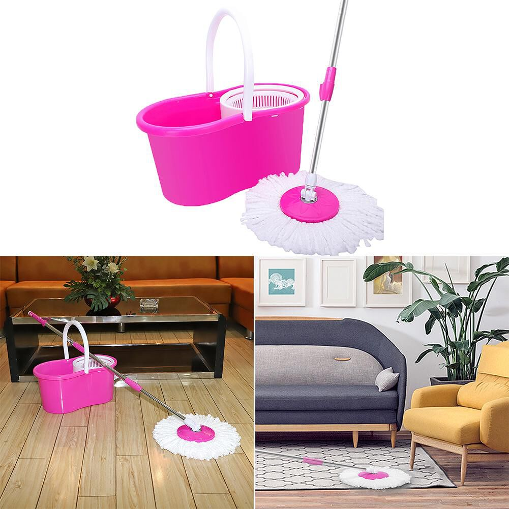 Mop 360 Rotating Wring Cleaning household Tool With Bucket & Dual Mop Heads