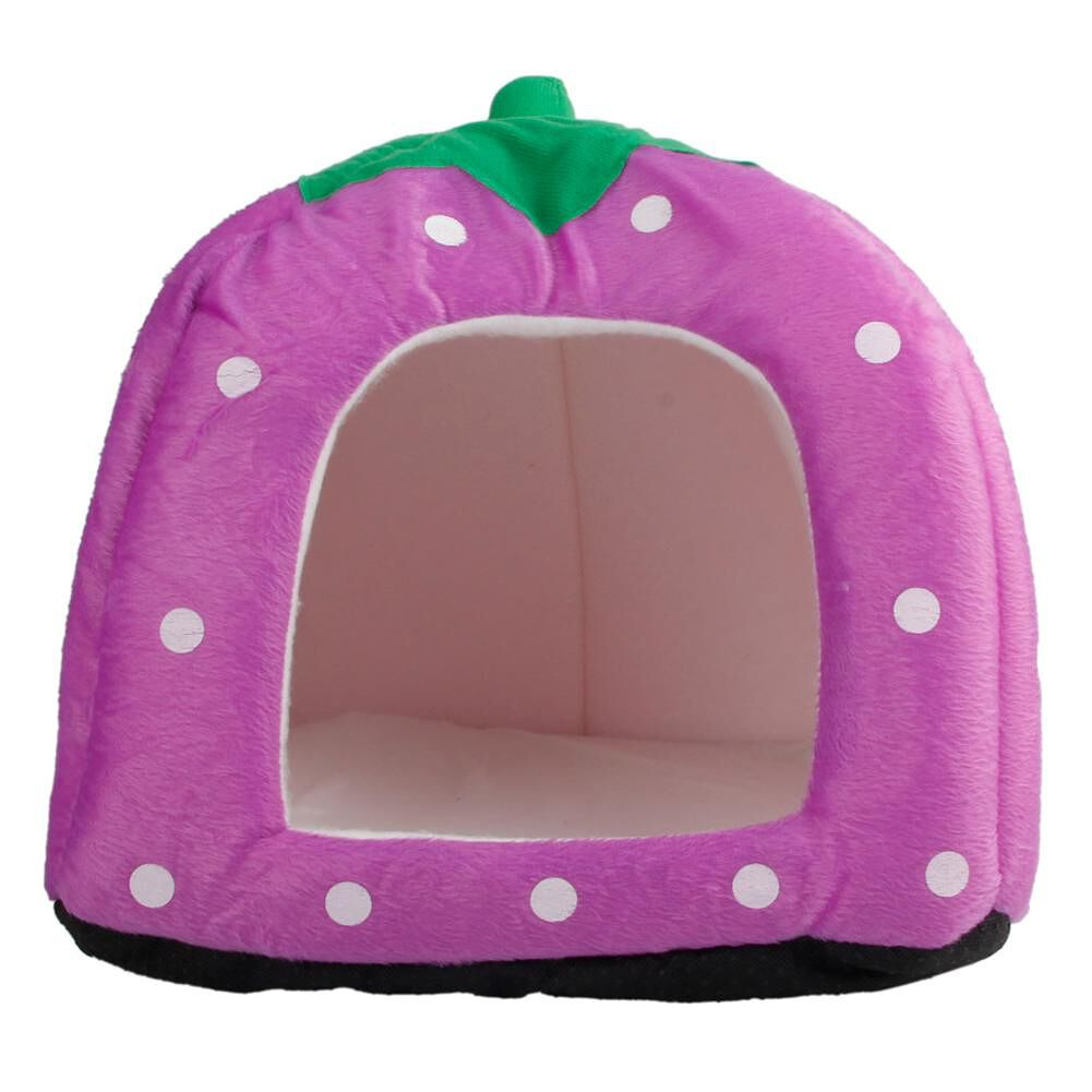 Soft Cotton Cute Strawberry Style Multi-purpose Pets Dog Cat House Nest Yur