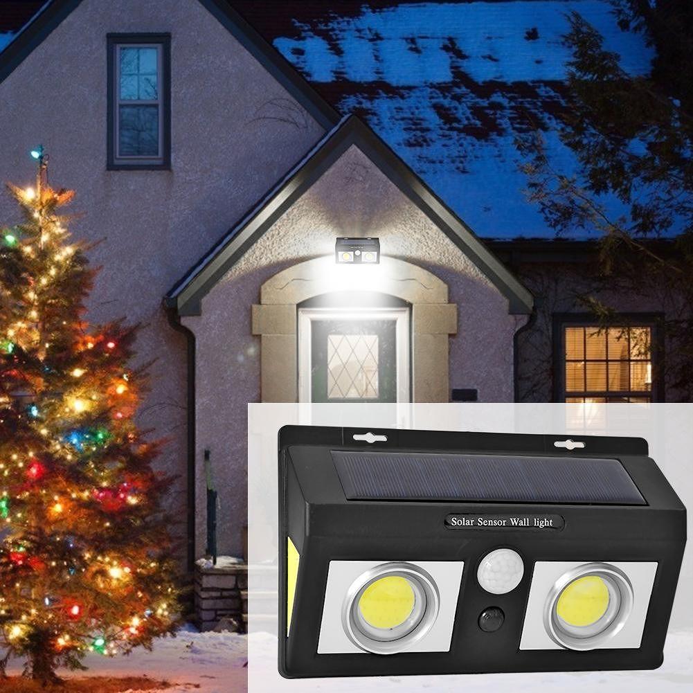 LED Solar Power Lamp Motion Sensor Wall Light Waterproof Yard Lamps (62cob)