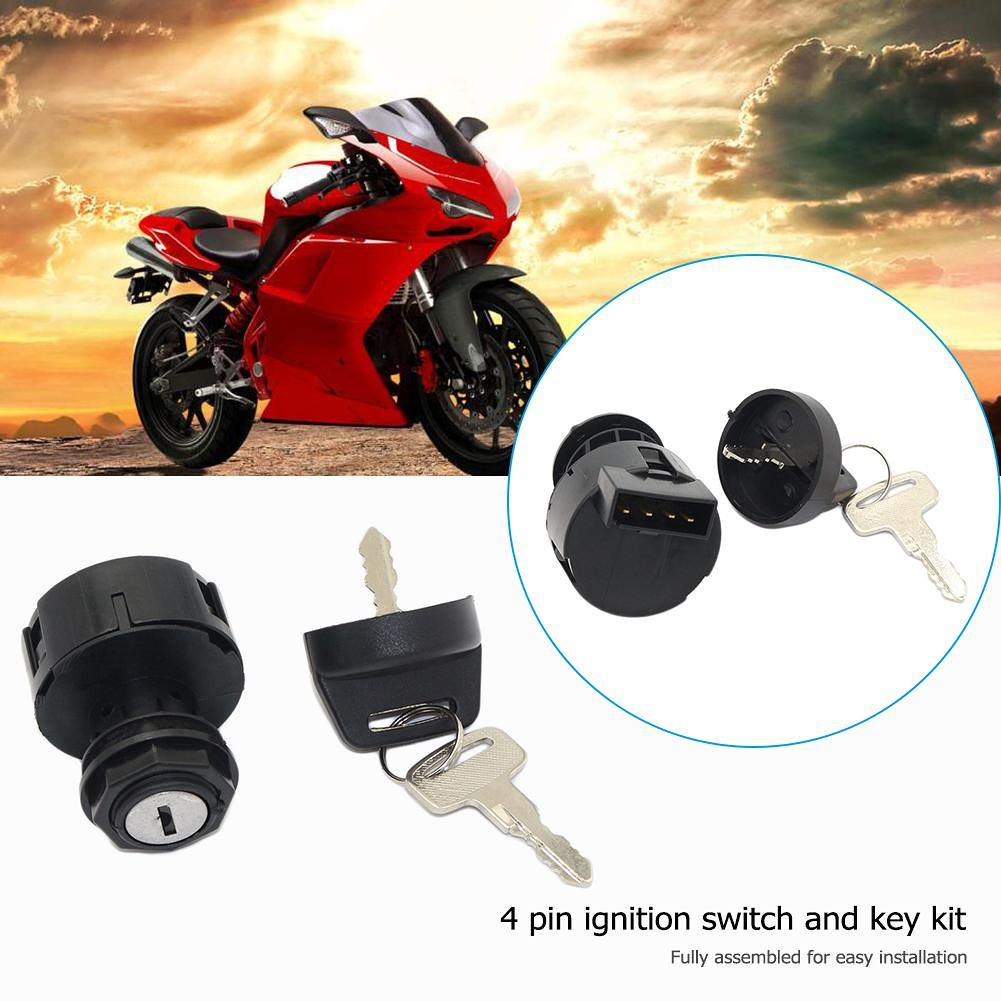 4 Pin Ignition Key Switch with Keys for POLARIS SPORTSMAN 500 2000 2001 ATV