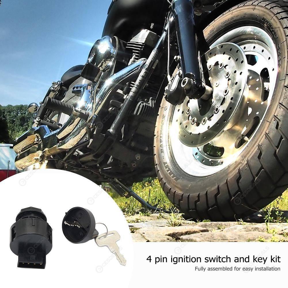 BW#A 4 Pin Ignition Key Switch with Keys for POLARIS SPORTSMAN 500 2000 2001 ATV