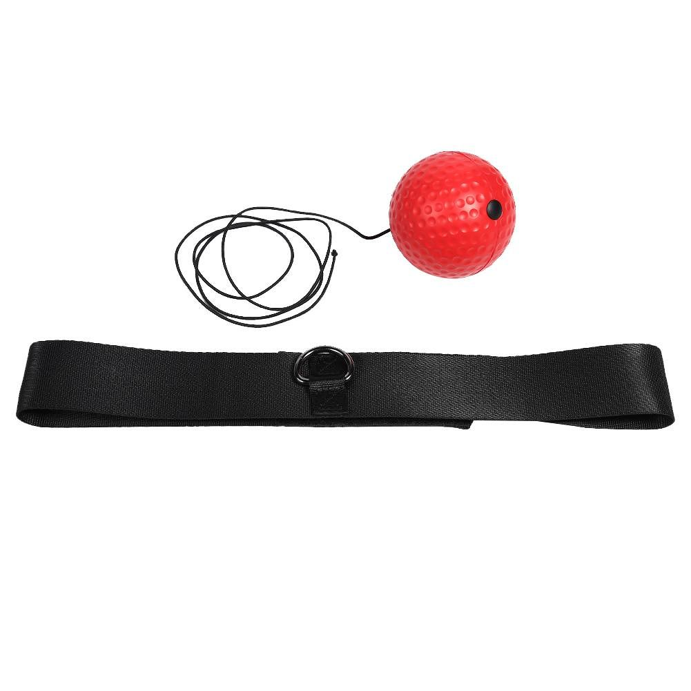Head-mounted Boxing Reflex Speed Ball Boxing Training Equipment (Red Ball)